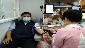 疫情仍嚴峻 中油號召員眷捐血達222袋