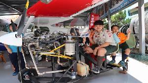 慶祝童軍節大會 1500童軍大榮中學體驗飛航新科技