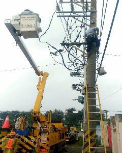 白鹿颱風過境 台電高雄區處全力動員戒備