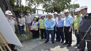 高雄副市長李四川 督導前鎮區大華一路道路改善