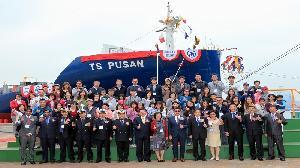 台船為德翔海運建造1,800 TEU級全貨櫃輪「TS PUSAN」 今舉行命名典禮