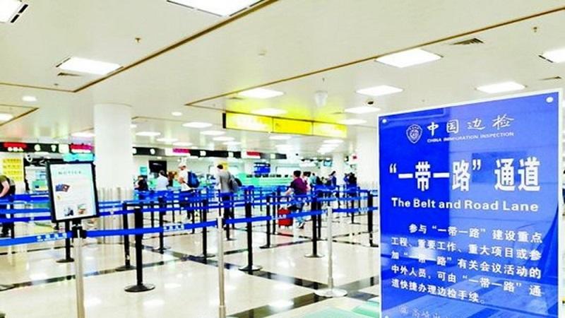 廈門機場開通「一帶一路」 專用通道便利沿線國家人員出入境
