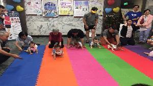 左營戶政親子趣味爬行賽 「粽情一夏 左營寶寶向前衝」