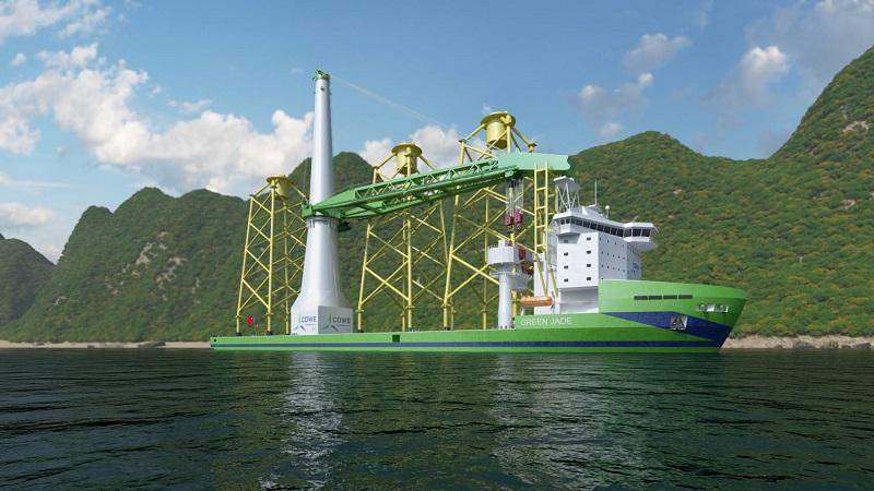 """台灣首艘新世代大型浮吊船""""Green Jade"""" 完成最終投資決策"""