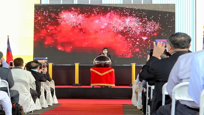 蔡英文總統主持 台船潛艦國造建造案開工