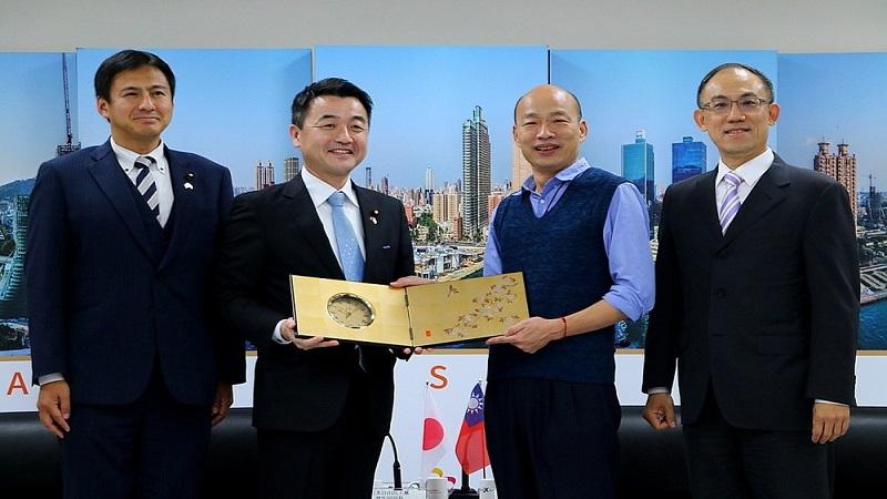 日本自由民主黨青年局長拜會高市府 韓國瑜期待與日交流加深