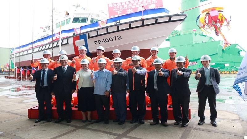 台船承造海洋委員會海巡署 100噸級巡防救難艇HNO.1143下水典禮