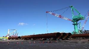 台船製造首批水下基樁完工交件 奠立海工事業新里程碑